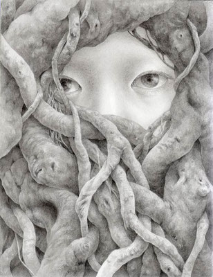 やわらかく守られた場所 / 2013 / pencil on paper / 180×140mm