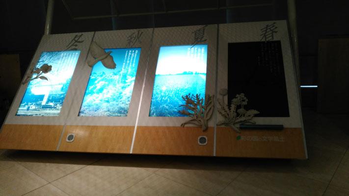 展示装置です。電気は切れ、展示表面は色あせています。