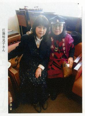 2015年3月24日-早稲田大学コスチャルニック展●弊社営業(左)