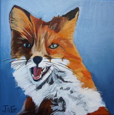 'Flynn' acrylic on canvas, 20 x 20cm - £140