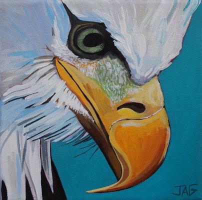 'Sully' acrylic on canvas, 20 x 20cm - £140