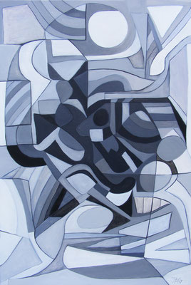 'Harlequin'  acrylic on canvas, 2014 - SOLD