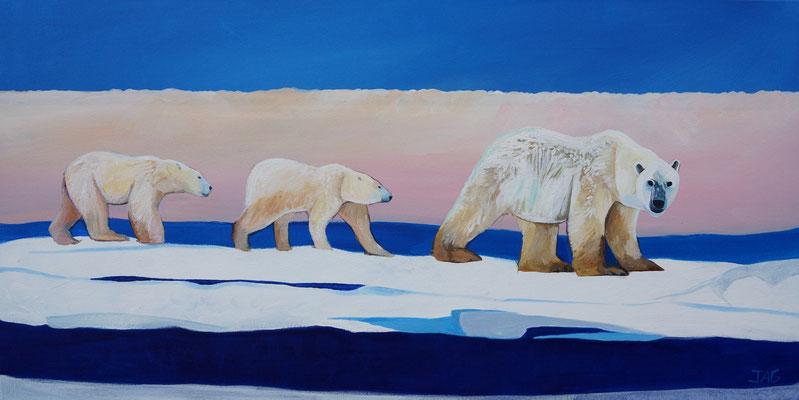 'Glacier' acrylic on canvas, 100 x  50cm - £800