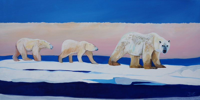 'Glacier' acrylic on canvas, 100 x  50cm - £800
