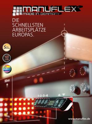 Idee und Umsetzung eines Covers für den Manuflex Produktkatalog