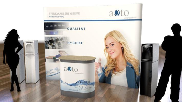 Mobiler Messestand für die Aqto GmbH - Konzeption und Umsetzung