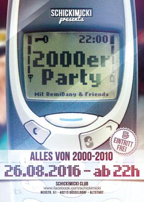 """Flyer für die Partyreihe """"2000er Party"""""""