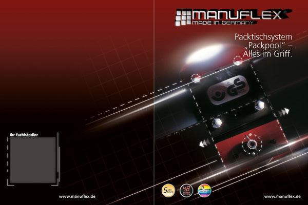 Idee und Umsetzung eines Covers für die Manuflex Packtisch Broschüre