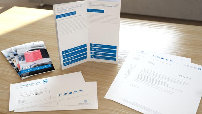 Visualisierung von Printmaterialien für das Info Steuerseminar in Düsseldorf