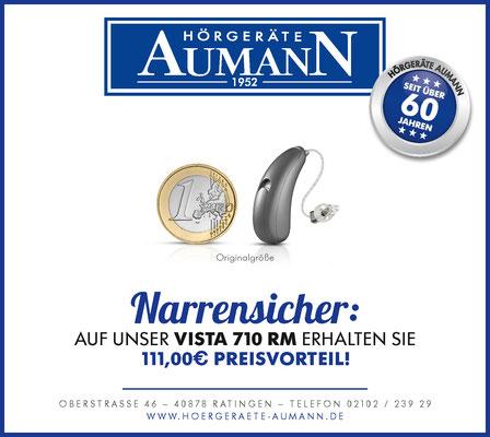 Gestaltung einer Anzeige für das VISTA 710 RM Hörgerät