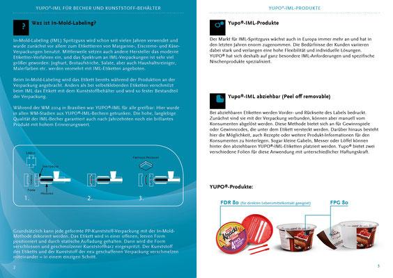 Konzept und Gestaltung einer Produktbroschüre für YUPO