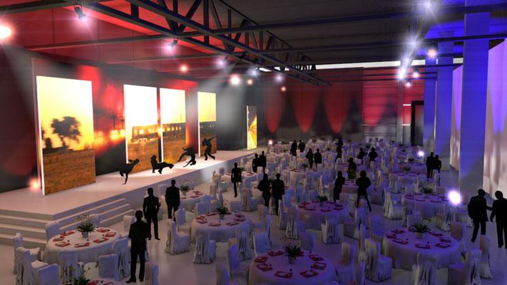 Ideen und Konzetion für ein Event für die Deutsche Bahn im Areal Böhler in Düsseldorf