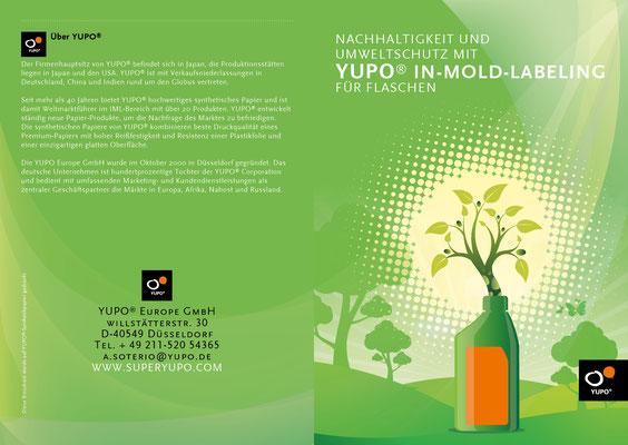 Konzept und Gestaltung einer Broschüre mit dem Thema Sustainability für YUPO