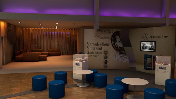 Ideen und Konzetion für ein Event für Daimler in der Legendenhalle Stuttgart