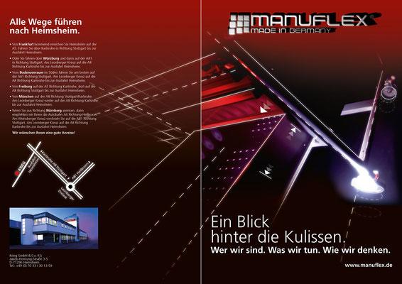 Idee und Umsetzung eines Covers für die Manuflex Firmenbroschüre