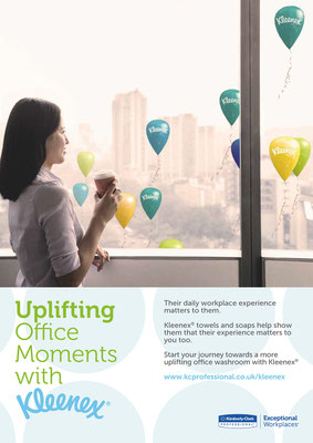 Umsetzung eines Keyvisuals für Kleenex (Uplifting Office Moments)