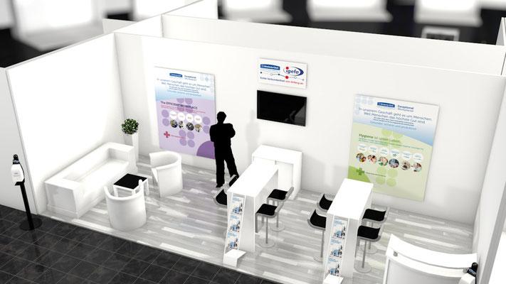Igefa 2015 - Messestand für Kimberly-Clark Professional - Ideen, Konzeption und Umsetzung