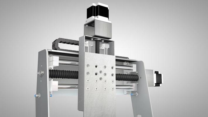 Visualisierung eines 3D Druckers / einer 3D Fräse