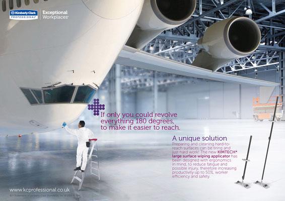 "Keyvisual für das Produkt  ""Large Surface wiping applicator"" für Kimberly-Clark Professional - kvell Marketing GmbH"