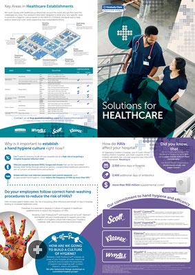 """4-Seitiger Flyer für den Gesundheitssektor für den Kunden """"Kimberly-Clark Professional"""""""