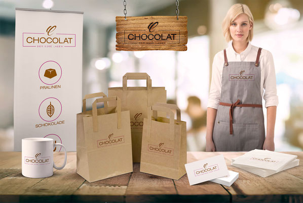 """Zusammenstellung für die Logoentwicklung für den Schokoladen """"Chocolat"""" - kvell Marketing GmbH"""