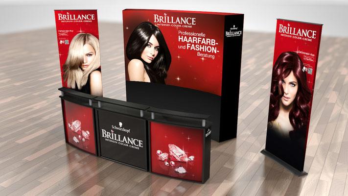 Mobiler Messestand für Schwarzkopf Brillance - Konzeption und Umsetzung