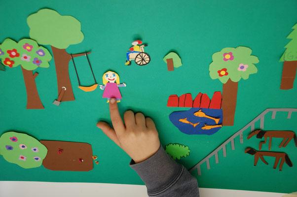 Beim Legetrick mit der Stop Motion Technik werden die Figuren Stück für Stück bewegt und fotografiert