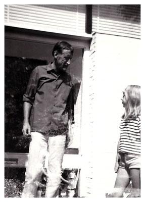 Jan Budding en dochter Marjolein in Groet.