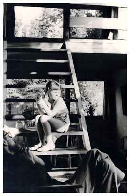Jan Budding en dochter Marjolein thuis.
