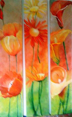 """""""Triptichon Blumen"""" von Tanja Trenker 2010"""