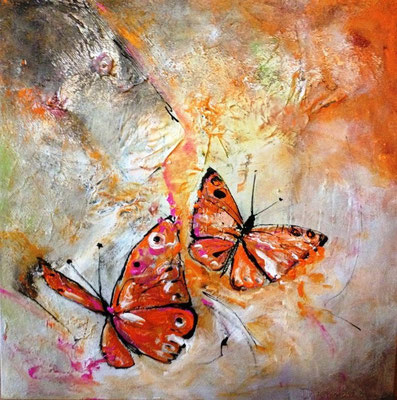 """""""Leben im Augenblick"""" von Tanja Trenker 60x60cm, 2012"""