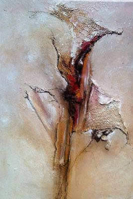 """Blick ins Innere"" Collage von Tanja Trenker, 80x100cm, 2012"