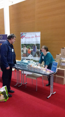 Sandra à la bourse touristique 2018 - Blois 41