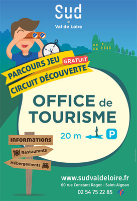 Affichage Place Wilson - Saint-Aignan - sens descendant du ZooParc de Beauval - cible enfant / famille