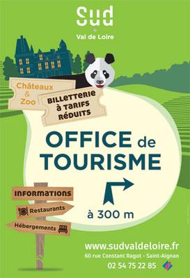 Affichage rue Maurice Berteaux - Saint-Aignan - sens montant vers le ZooParc de Beauval - cible adulte / famille