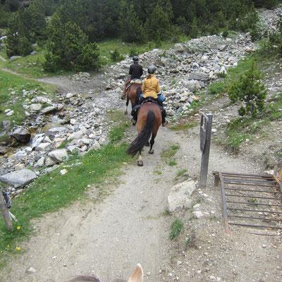in den Bündner Bergen unterwegs