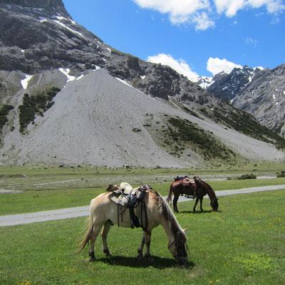 in den Alpen unterwegs