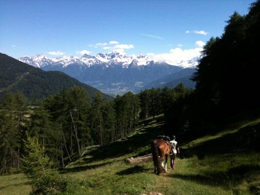 Wanderritt im Südtirol