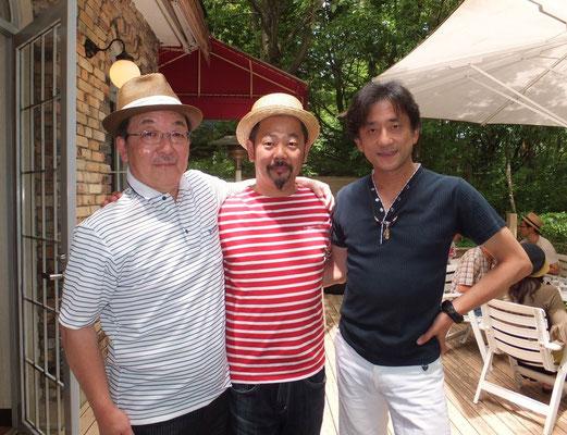 現在Maxonの顧問の田村さんとガラクタギター博物館」館長の伊藤さん