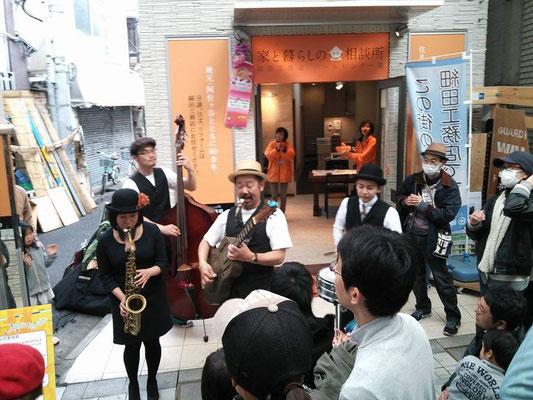 矢野忠と青空ロマンス楽団 阿佐ヶ谷SwingWalk♪2014