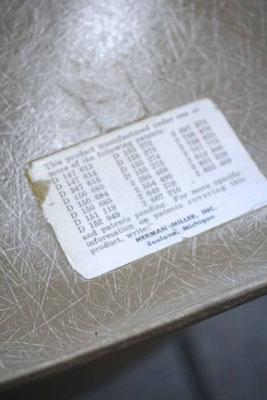 Eames Fiberglass Chair Greige Cincinnati Milacron Logo