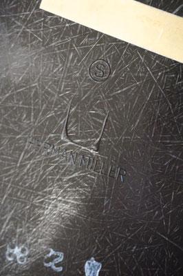 Eames Fiberglass Armchair in Dark Tone Logo