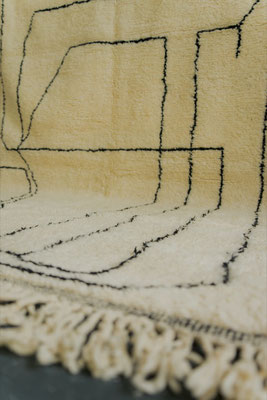 Berber Rug Azilal Teppich White White Lines