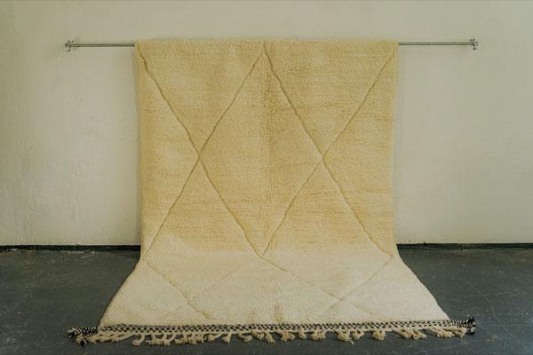 Berber Rug Azilal Teppich White White Black