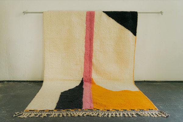 Berber Rug Azilal Teppich Black Pink Orange