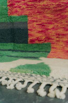 Berber Rug Azilal Teppich White Green Pink