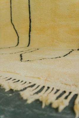 Berber Rug Azilal Teppich Black White White
