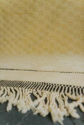 Berber Rug Azilal Teppich White Black Caro