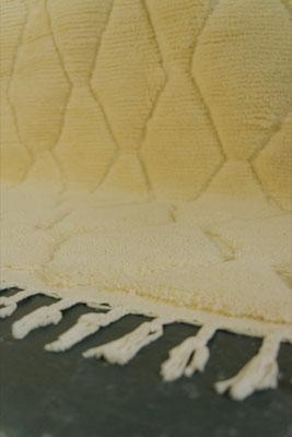 Berber Rug Azilal Teppich Raute White White