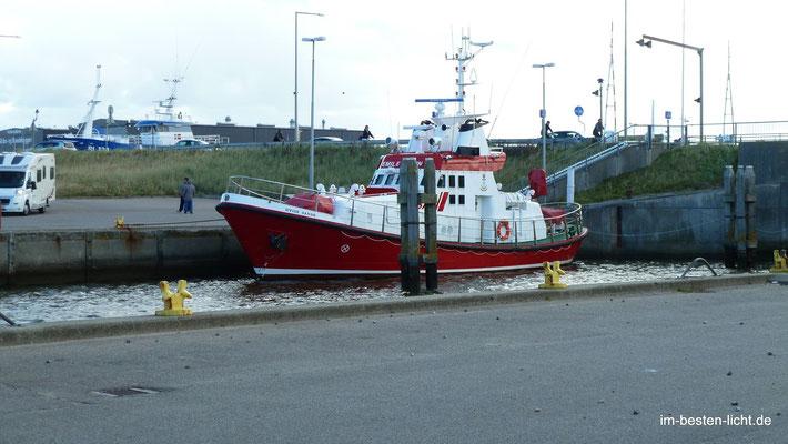 Hvidesande, am Hafen